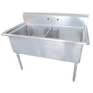 24 Compartment Corner Drain Sinks